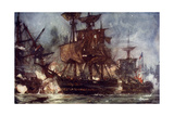 "The ""Majestic"" at the Battle of the Nile, 1798 Giclee Print by Charles Edward Dixon"