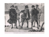 Sir Walter Raleigh Re-Arrested by Stukeley 1618 Giclee Print by Gordon Frederick Browne