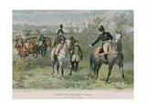 Napoleon and Alexander at Erfurt Giclee Print by Felicien Baron De Myrbach-rheinfeld