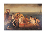 Danae and Baby Perseus Being Rescued by Corsali in Serifo Island, 1806 Giclee Print by Jacques Berger