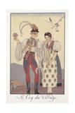 Falbalas Et Fanfreluches, Almanac for 1922, Le Coq Du Village Giclee Print by Georges Barbier