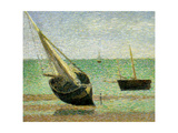 Boats at Grandcamp, Normandy, 1885 Giclee Print by Georges Seurat