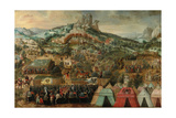 A Siege at Therouanne, with an Army Led by Charles V Encamped Below the City Giclee Print by Herri Met De Bles