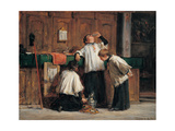 The Wine of the Parish Priest, 1875 - 1895 Giclee Print by Demetrio Cosola
