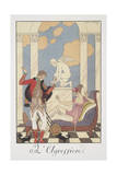 Falbalas Et Fanfreluches, Almanac for 1922, L'Aggression Giclee Print by George Barbier
