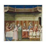 The Wedding of Cana, Detail from Life and Passion of Christ, 1303-1305 Giclee Print by  Giotto