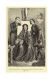 Mrs Holt Sat on a Stool, in Singular Relief Agaisnt the Pedestal of the Apollo Giclee Print by J. Cooper
