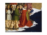 Baptizing Men and Children, Detail from Coronation of Virgin Altarpiece, 1454 Giclee Print by Enguerrand Quarton
