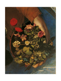 Boy with Basket of Flowers Giclee Print by Dosso Dossi