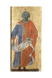 Solomon, Detail from the Predella of the Maesta' of Duccio Altarpiece in the Cathedral of Siena Giclee Print by Duccio Di buoninsegna