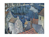 The Old Harbour Giclee Print by Christopher Richard Wynne Nevinson