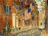 Acorn Street, Boston, 1919 Giclee Print by Childe Hassam