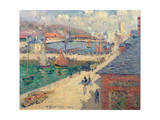 The Port of Fecamp, 1924 Giclee Print by Gustave Loiseau