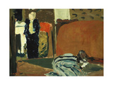 Woman Looking under the Bed, C.1895 Giclée-Druck von Edouard Vuillard