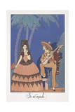 Falbalas Et Fanfreluches, Almanac for 1924, Serenade Giclee Print by George Barbier