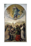 Assumption of Virgin Mary Giclee Print by Gerolamo Muziano
