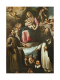 Our Lady of Graces with Saints Francis of Assisi Giclee Print by Fabrizio Santafede