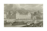 Hotel De Ville Giclee Print by Eugene-Louis Lami