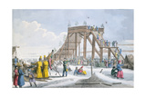 Ice-Covered Rollercoaster, 1820 Giclee Print by Charles Lasteyrie Du Saillant