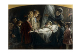 Visiting the Dead Little Girl Giclee Print by Demetrio Cosola