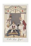 Falbalas Et Fanfreluches, Almanac for 1923, Entre Deux Feux Giclee Print by George Barbier