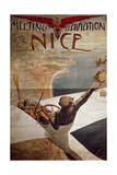 France, Nice, Meeting D'Aviation, April 10-25, 1910 Giclee Print by Charles Leonce Brosse