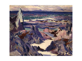 Cathedral Rock, Rhum, from Iona Giclee Print by Francis Campbell Boileau Cadell