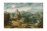 Landscape with Jupiter and Other Classical Figures in the Foreground Giclee Print by Cornelis Massys