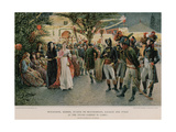 Gathering at the Tivoli Garden in Cairo Giclee Print by Felicien Baron De Myrbach-rheinfeld