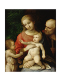 The Virgin and Child Surrounded by St John the Baptist and St Joseph, 1517 Giclee Print by Correggio