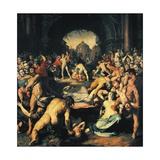 Massacre of Innocents, Central Panel of Triptych Giclee Print by Cornelis Cornelisz Van Haarlem