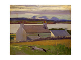 Nightfall, Iona, Paps of Jura Beyond Giclee Print by Francis Campbell Boileau Cadell