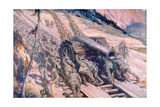 Italians Hauling Artillery Up a Mountain Giclee Print by Cyrus Cuneo