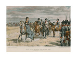 Queen Louisa Reviewing the Prussian Army Giclee Print by Felicien Baron De Myrbach-rheinfeld
