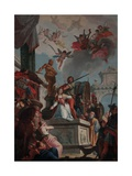 St. Catherine's Martyrdom, 1744 Giclee Print by Francesco Fontebasso