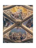Glory of Christ, Fresco Giclée-tryk af Giovanni Lanfranco