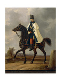 Lieutenant Colonel Officer Marching, 1814-1876 Giclee Print by Faustino Joli