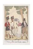 Falbalas Et Fanfreluches, Almanac for 1923, Venez Donc, Ma Bonne Amie Giclee Print by Georges Barbier