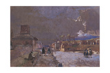 Italy, the Street of Tombs in Pompeii Giclee Print by Giacinto Gigante