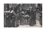 The People Signing the Covenant of St Giles Church in Edinburgh 1638 Giclee Print by Gordon Frederick Browne