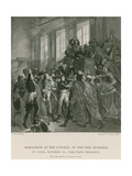 Bonaparte at the Council of the Five Hundred Giclee Print by Francois Bouchot