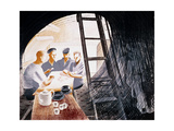 Sailors Playing Cards Giclee Print by Eric Ravilious