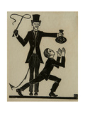 The Monkey and the Whip Giclee Print by Eric Gill