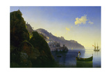 The Coast of Amalfi, 1841 Giclee Print by Ivan Konstantinovich Aivazovsky