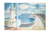Newhaven Harbour Giclee Print by Eric Ravilious