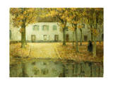 Little Place on the Banks of the Eau at Chartres; Petit Place Au Bord De L'Eau a Chartres, 1902 Giclee Print by Henri Eugene Augustin Le Sidaner