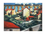 The Viaduct Giclee Print by Christopher Richard Wynne Nevinson