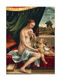 Venus and Cupid Giclee Print by Georg Pencz