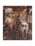Borso D'Este Departing for Hunt, Scene from Month of March Giclee Print by Francesco del Cossa