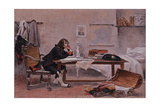 Napoleon at Auxonne Giclee Print by Francois Flameng